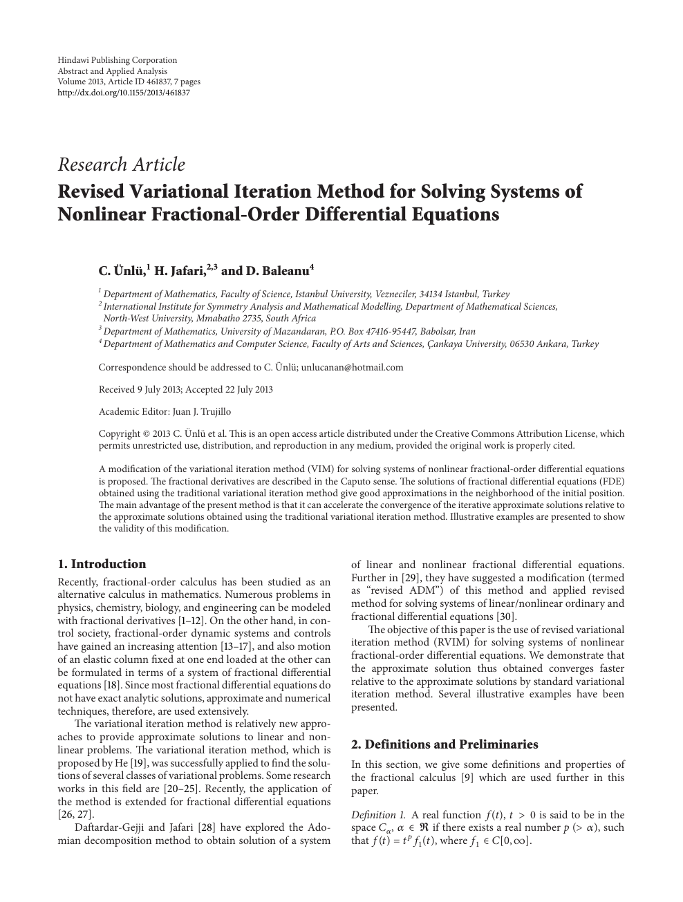 Revised Variational Iteration Method for Solving Systems of