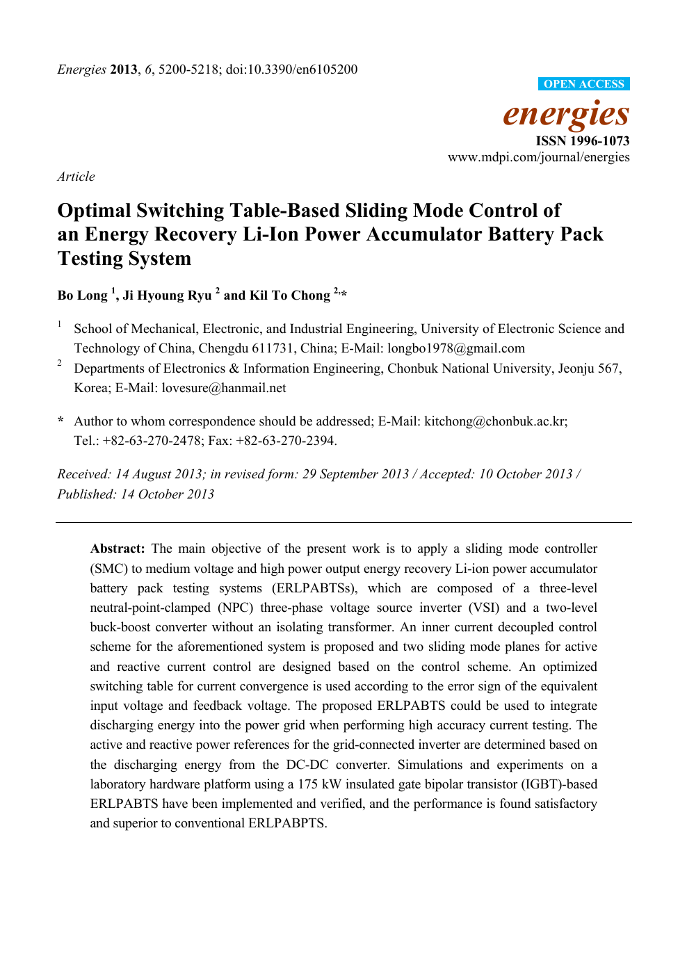 Optimal Switching Table-Based Sliding Mode Control of an