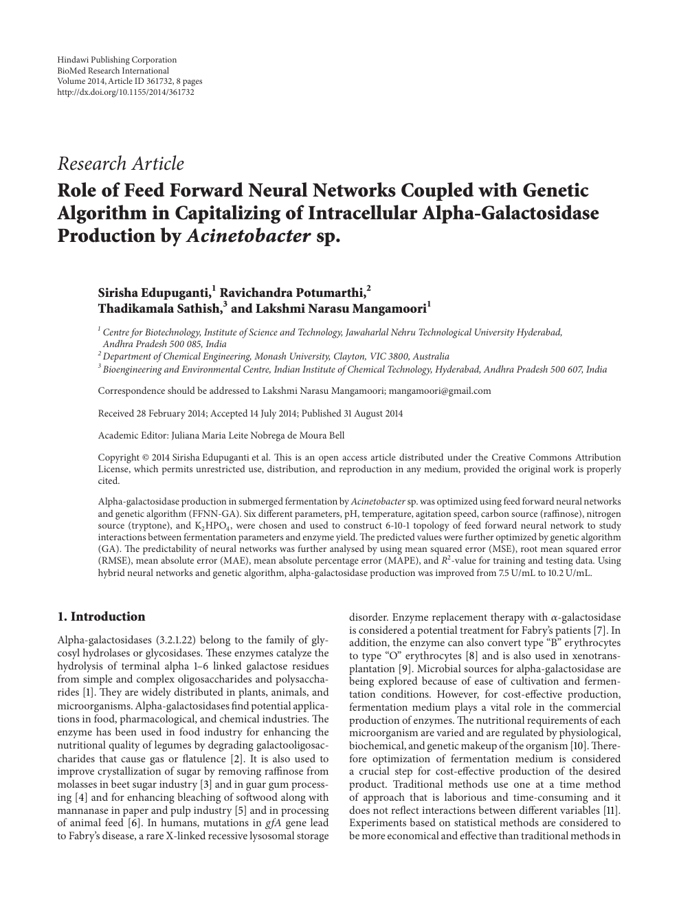 Role of Feed Forward Neural Networks Coupled with Genetic Algorithm
