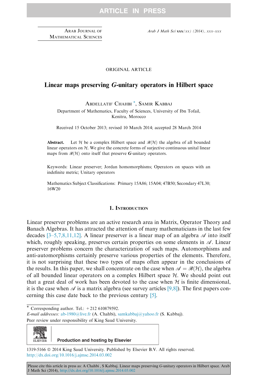 Linear maps preserving G-unitary operators in Hilbert space ... on ideal map, star map, samsung map, classic map, standard map, cylindrical map, horizontal map, digital map, sony map, quad map, logical map,