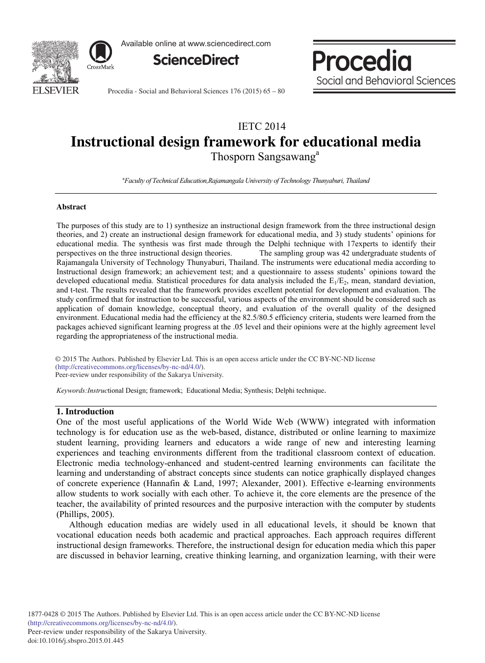 Instructional Design Framework For Educational Media Topic Of Research Paper In Economics And Business Download Scholarly Article Pdf And Read For Free On Cyberleninka Open Science Hub