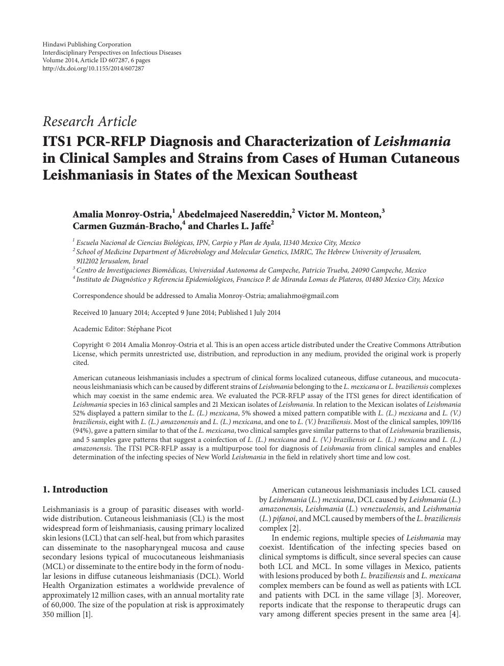 leishmaniasis visceral mexico