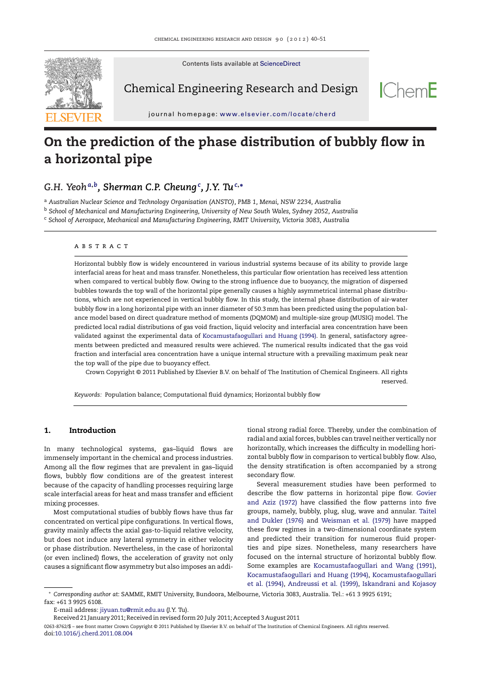 On The Prediction Of The Phase Distribution Of Bubbly Flow In A Horizontal Pipe Topic Of Research Paper In Chemical Engineering Download Scholarly Article Pdf And Read For Free On Cyberleninka