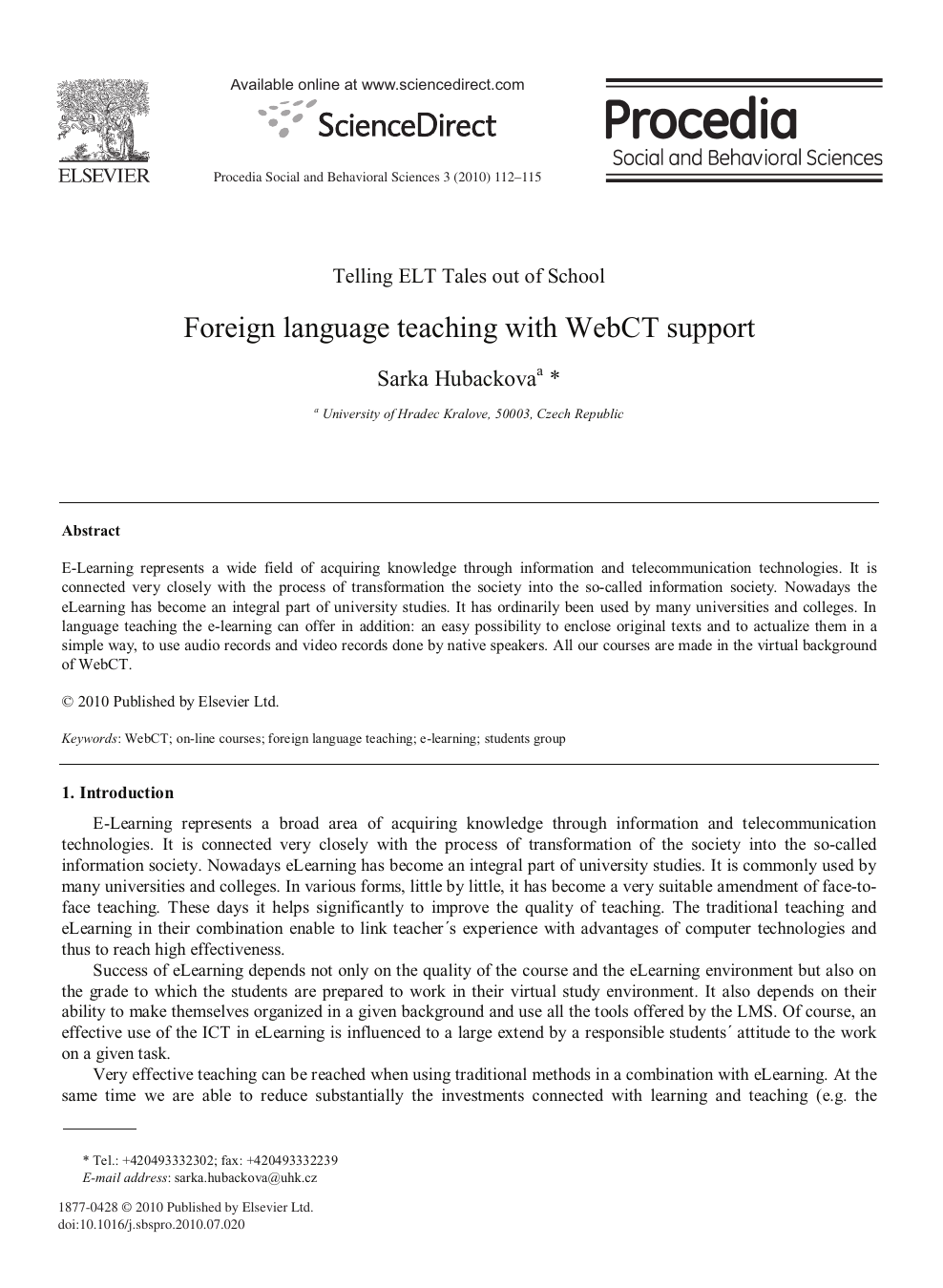 Language Supports Academic And Social >> Foreign Language Teaching With Webct Support Topic Of Research