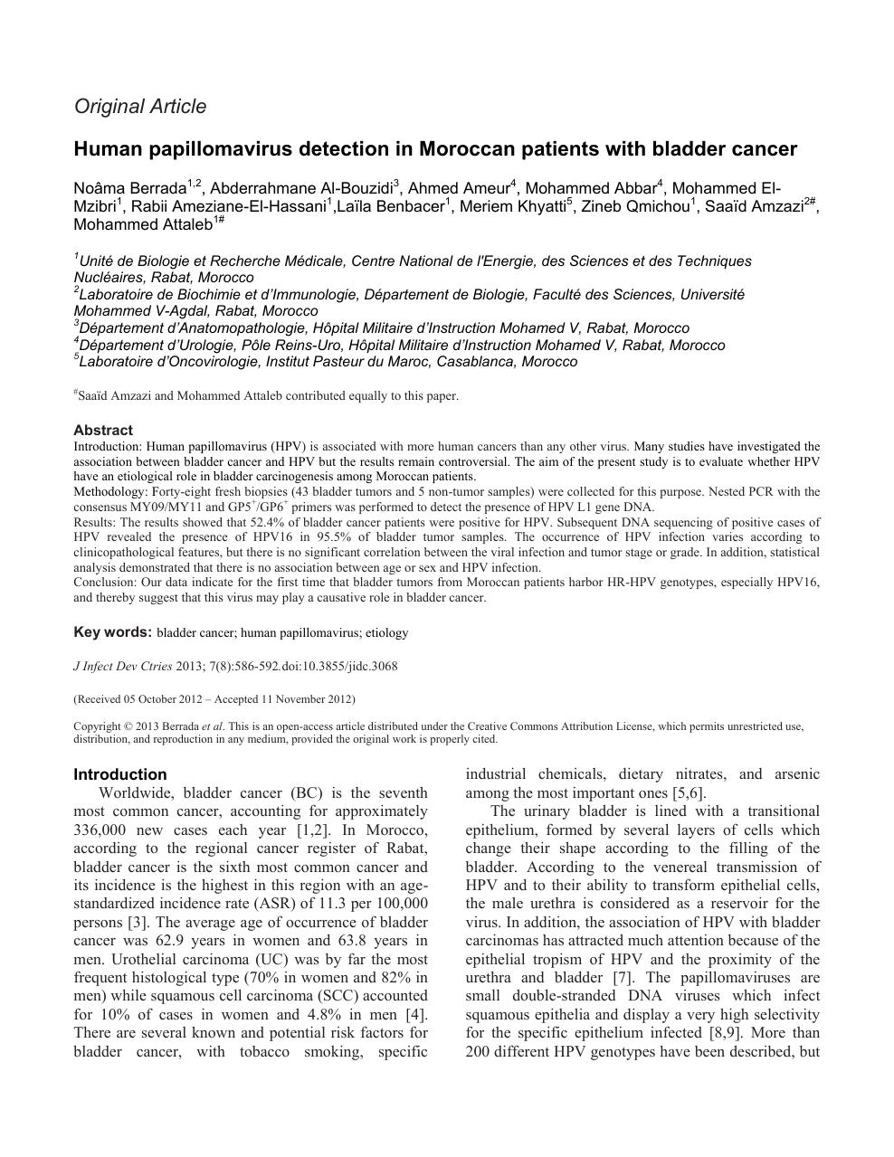 Papillomavirus femme detection, Papillomavirus detection, Risk human papillomavirus detection