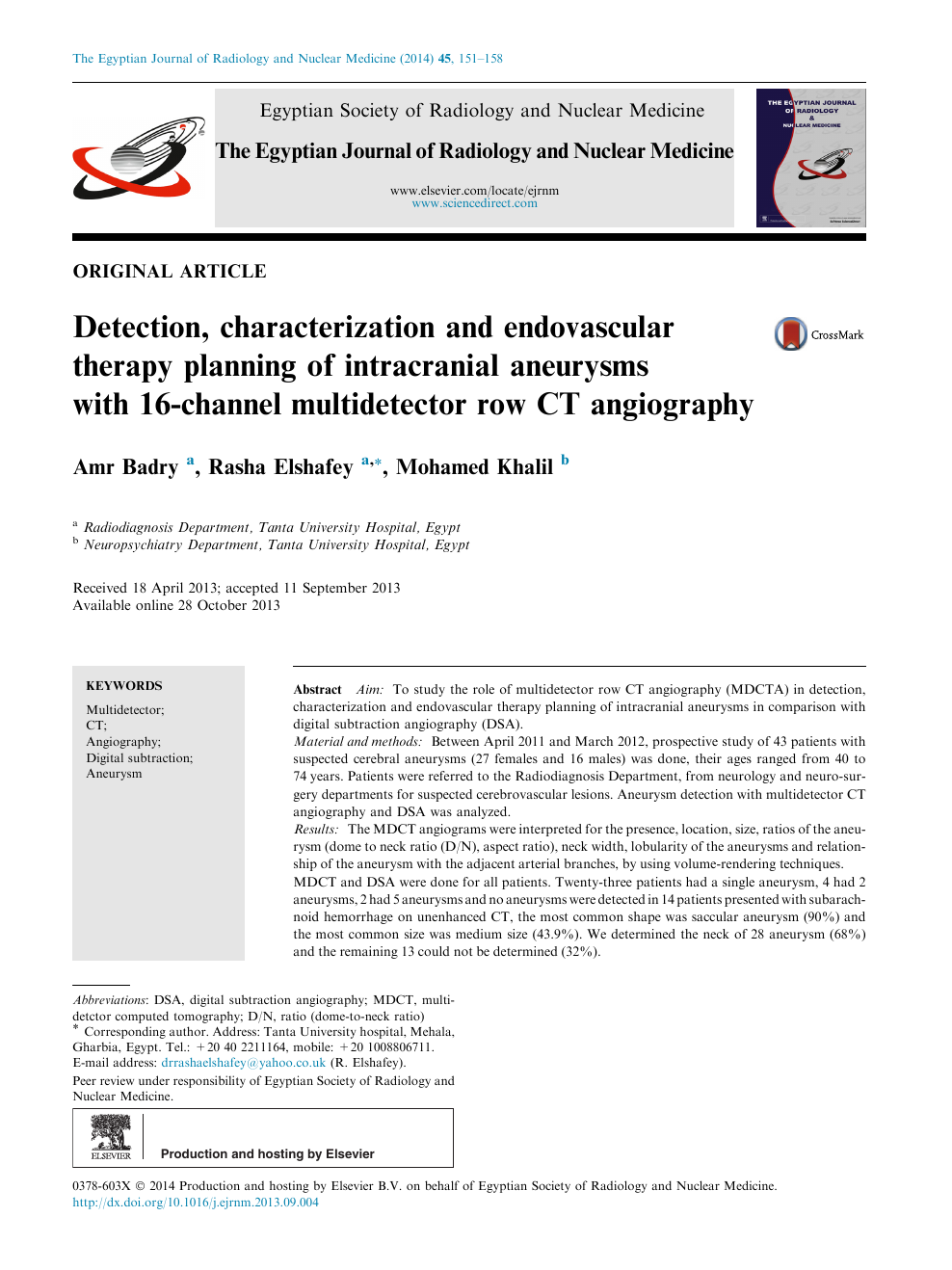 Detection, characterization and endovascular therapy planning of