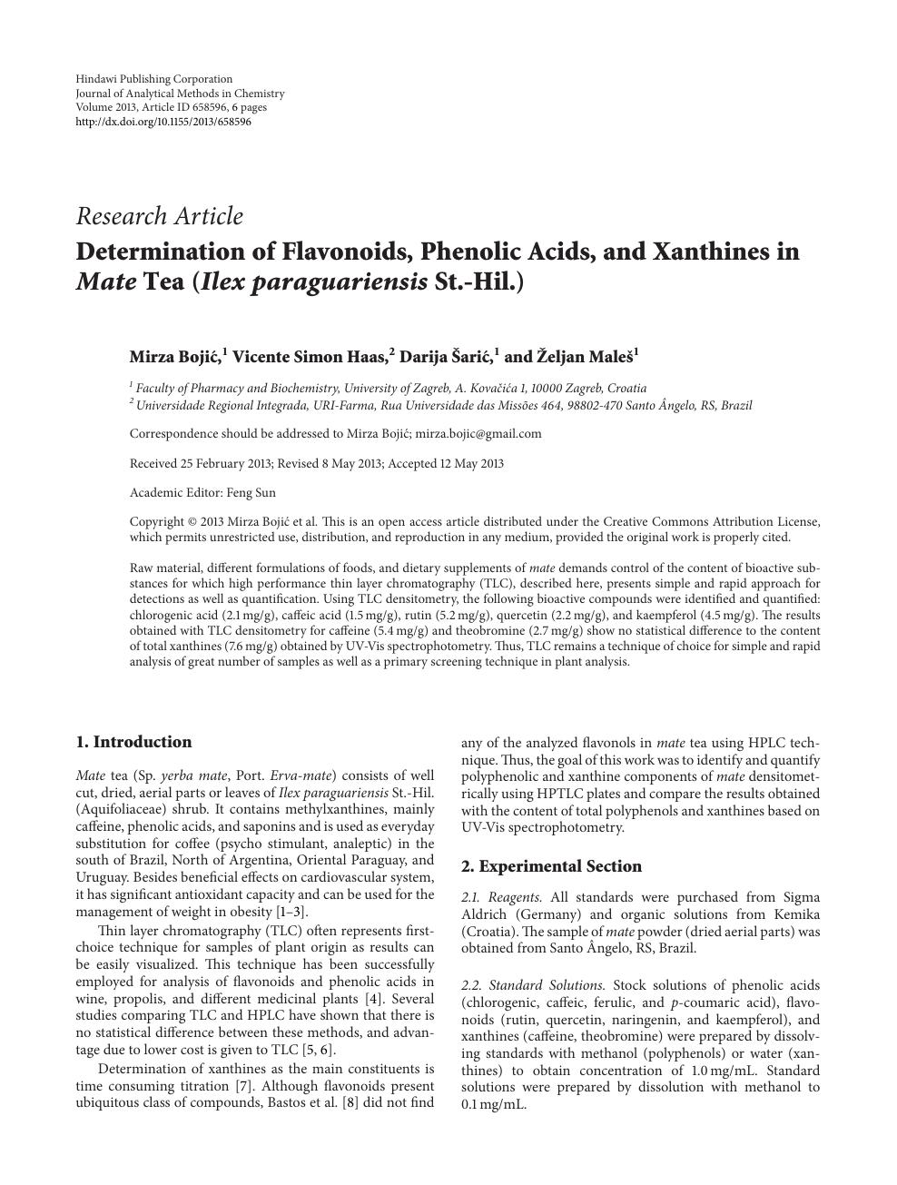 caffeine research paper topics