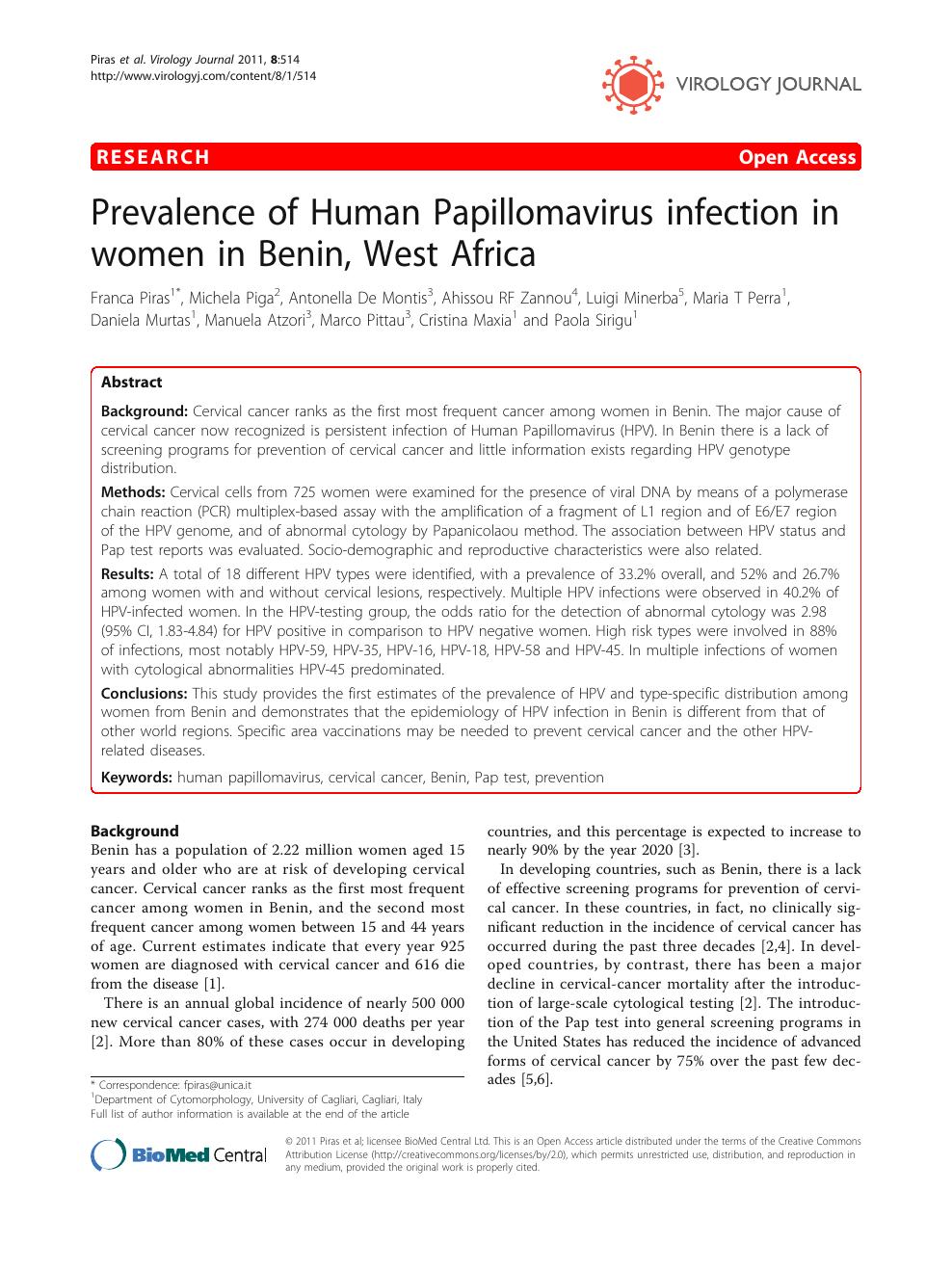 papillomavírus benin