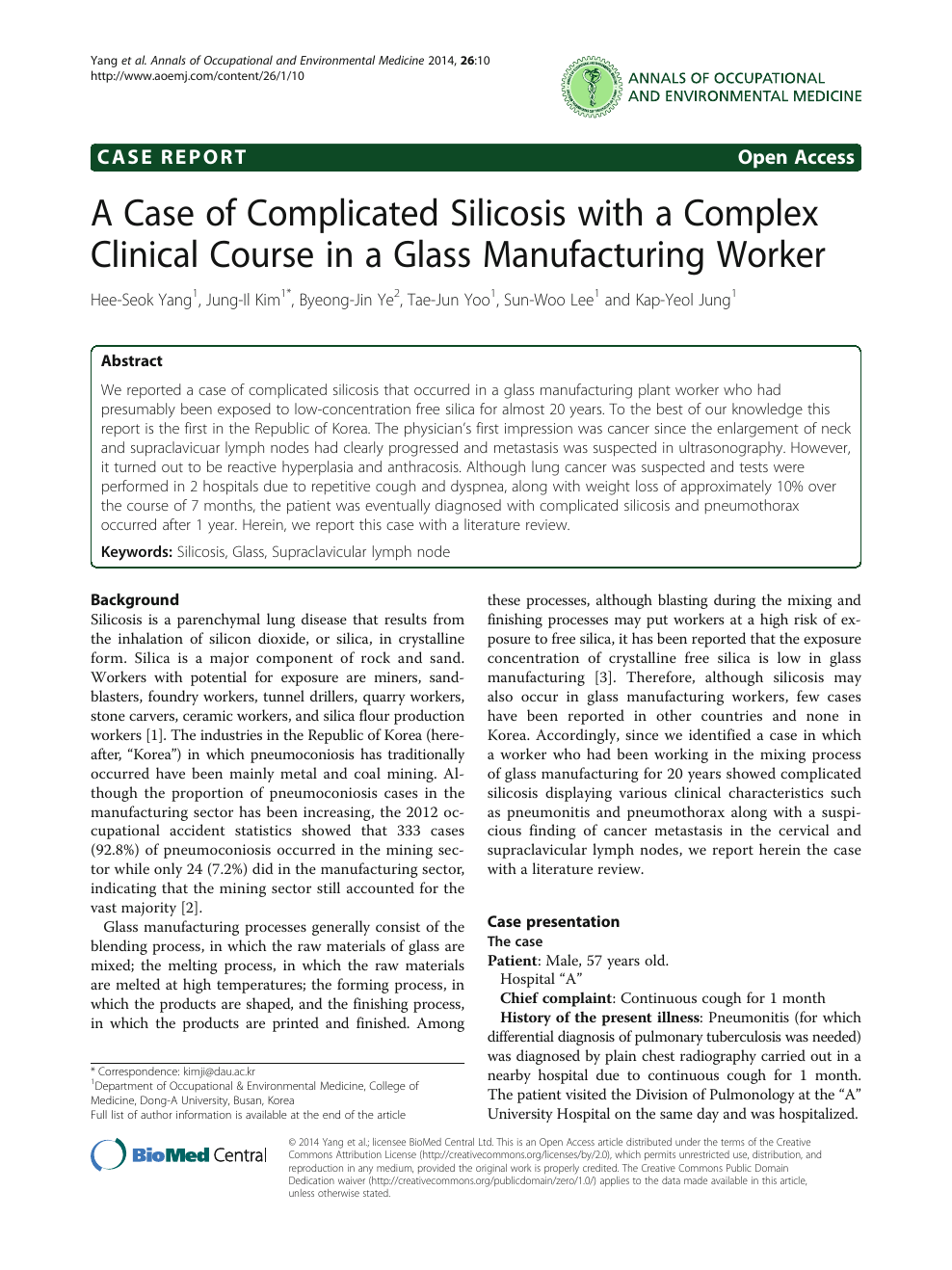 A Case of Complicated Silicosis with a Complex Clinical Course in a
