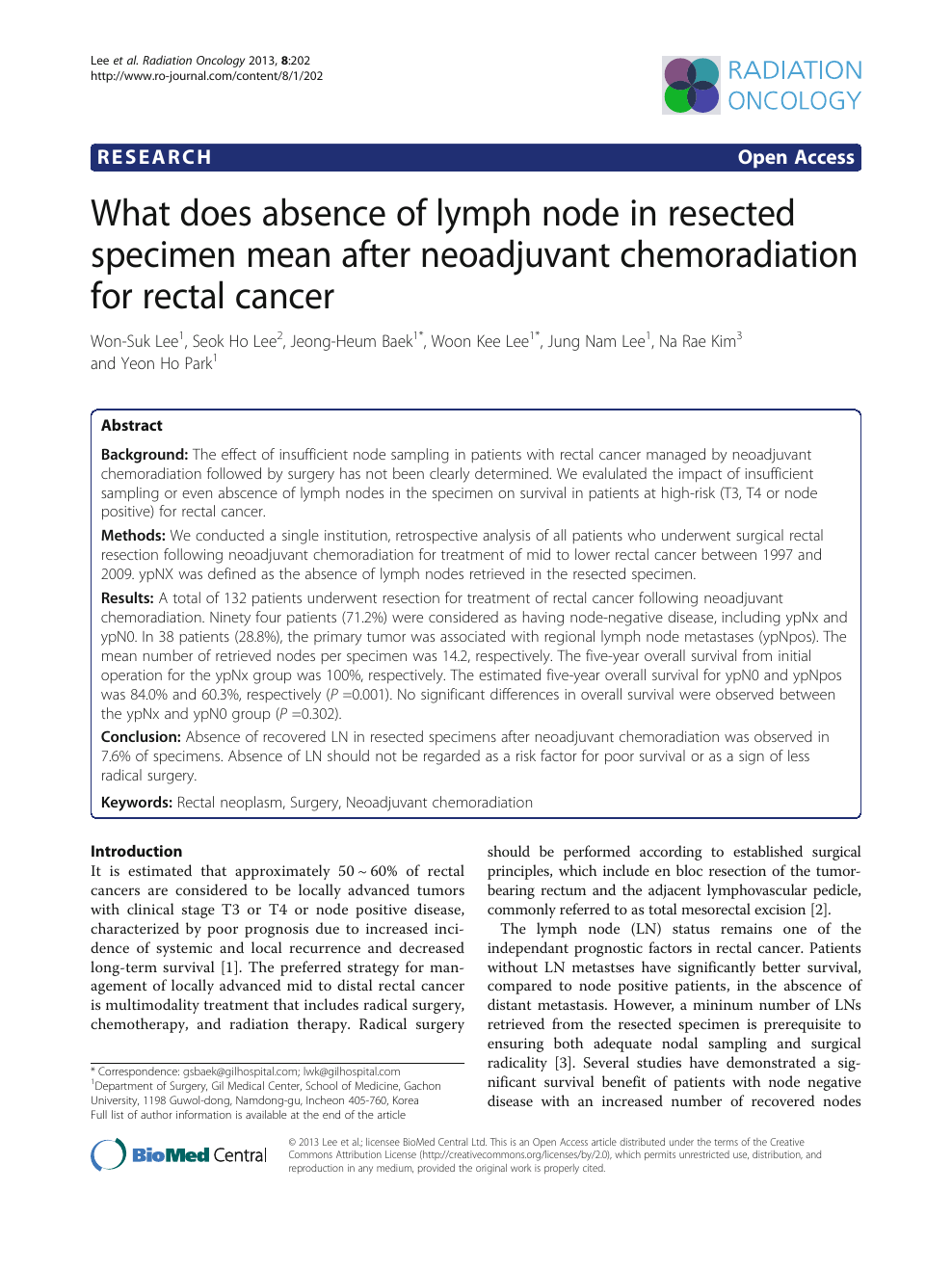 What Does Absence Of Lymph Node In Resected Specimen Mean After Neoadjuvant Chemoradiation For Rectal Cancer Topic Of Research Paper In Clinical Medicine Download Scholarly Article Pdf And Read For Free