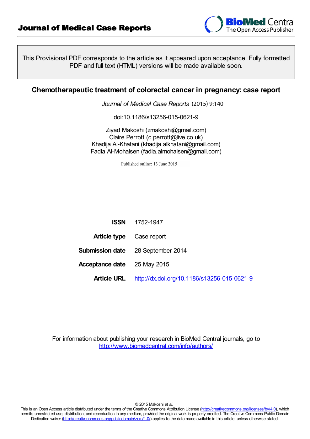 Chemotherapeutic Treatment Of Colorectal Cancer In Pregnancy Case Report Topic Of Research Paper In Clinical Medicine Download Scholarly Article Pdf And Read For Free On Cyberleninka Open Science Hub
