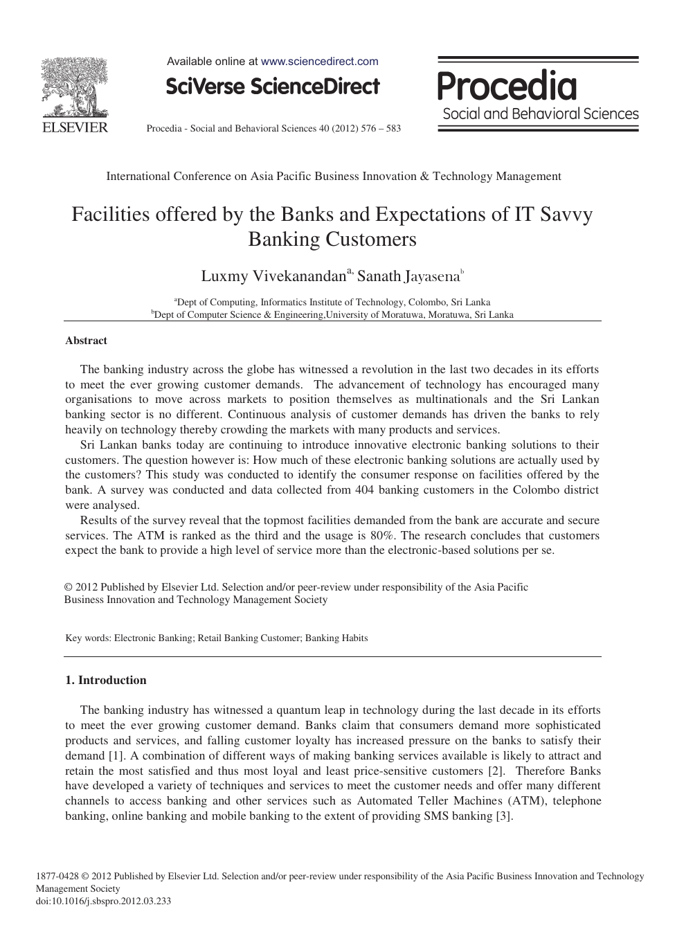 international banking research paper