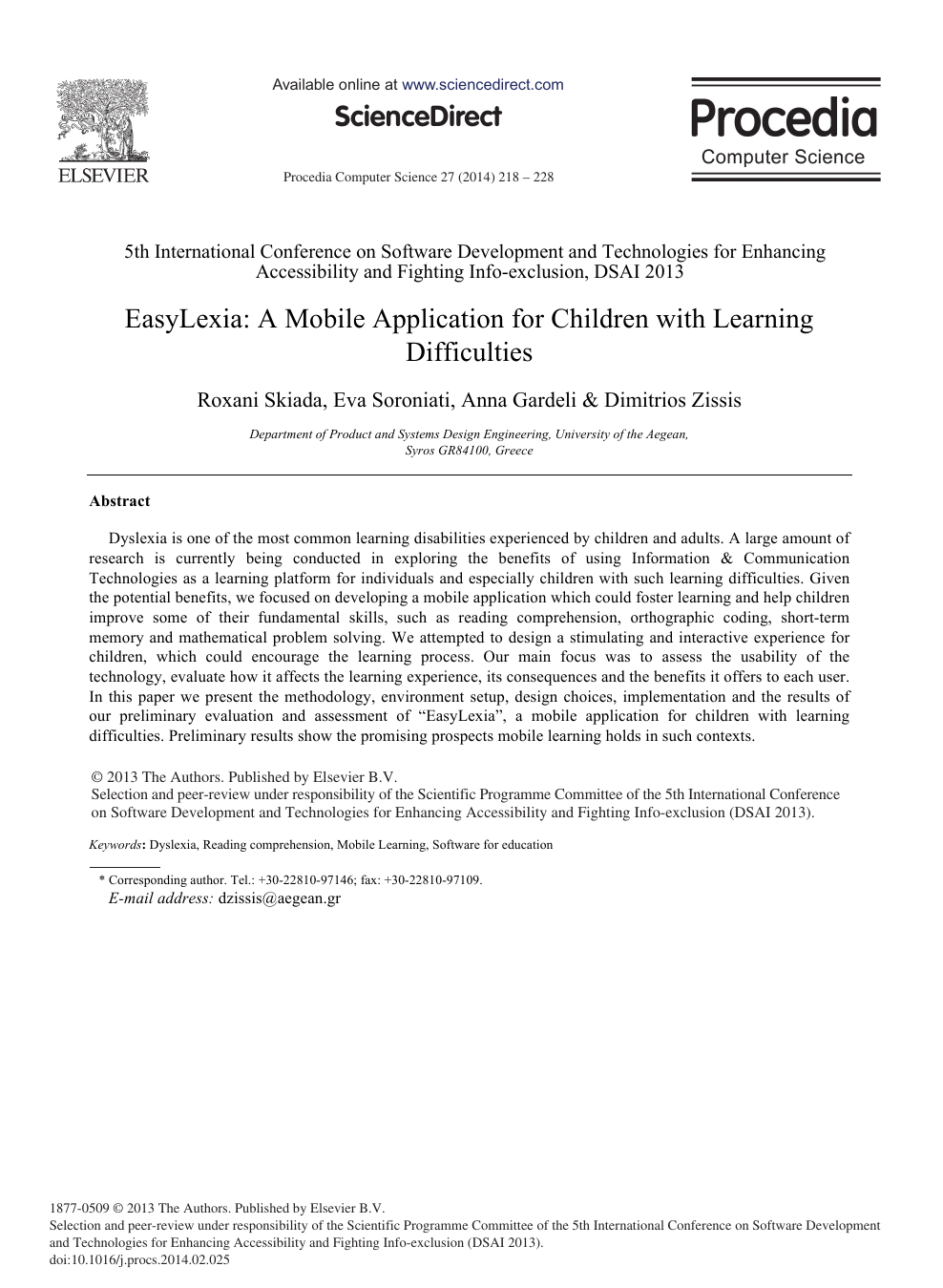 Easylexia A Mobile Application For Children With Learning Difficulties Topic Of Research Paper In Computer And Information Sciences Download Scholarly Article Pdf And Read For Free On Cyberleninka Open Science Hub