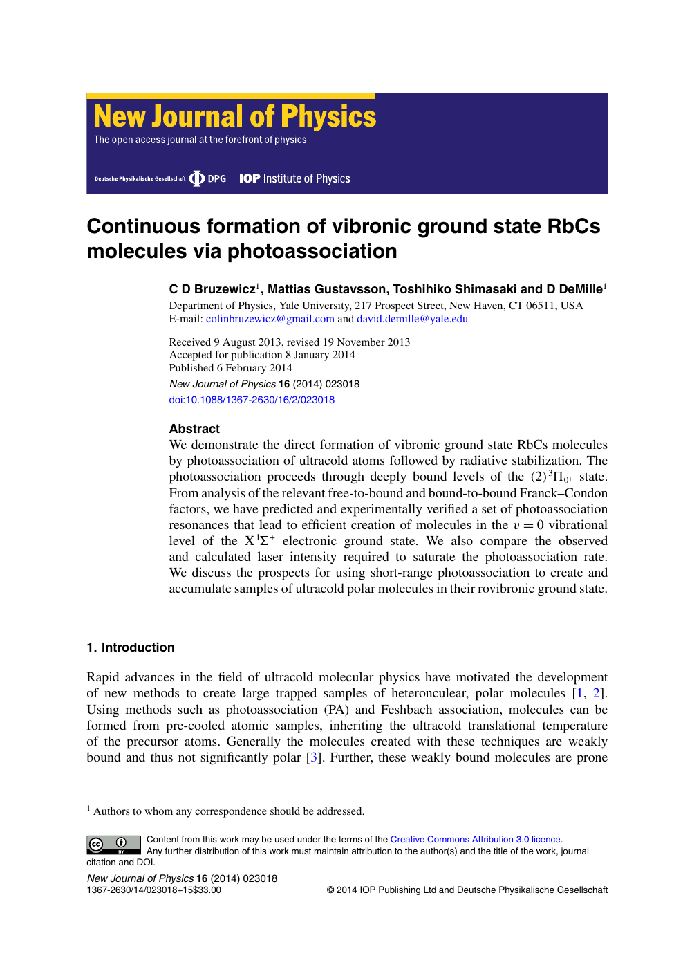 Continuous formation of vibronic ground state RbCs molecules