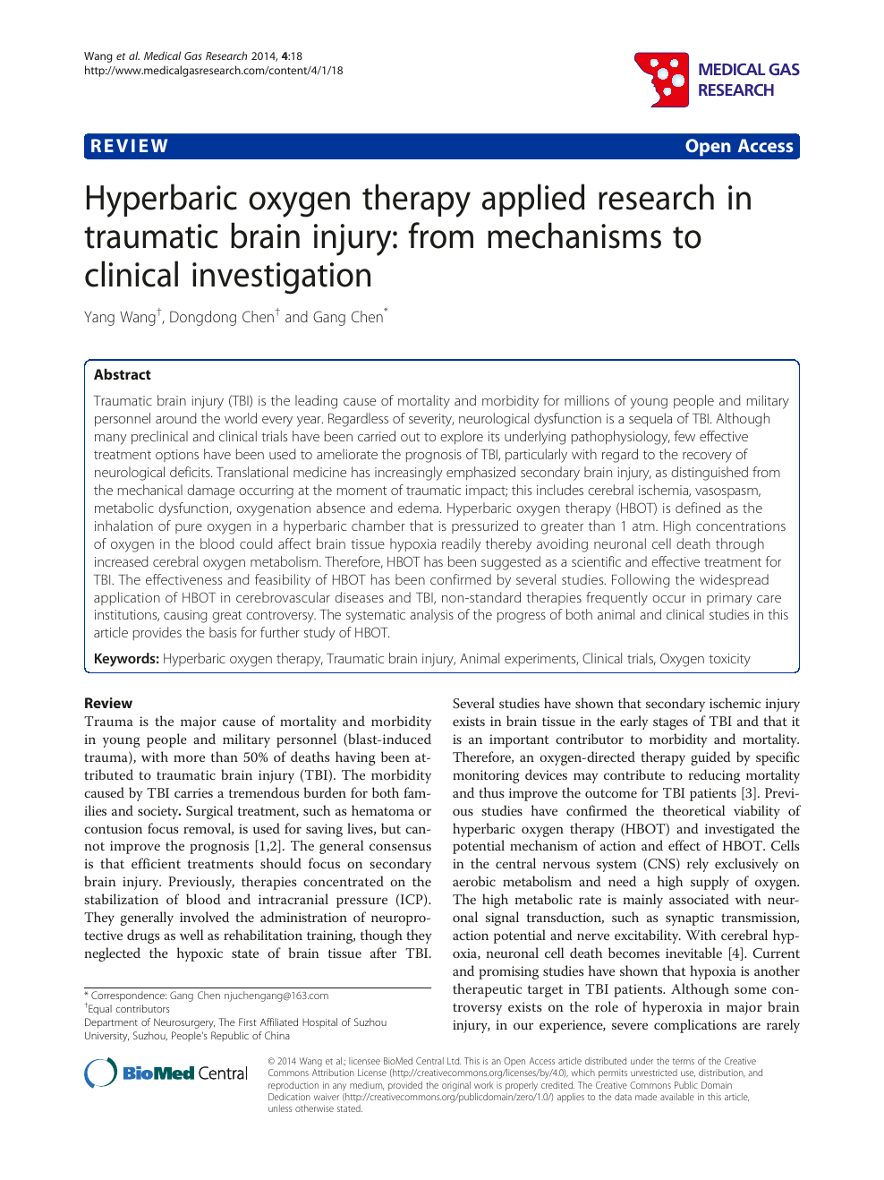 Literature Review Hbot Is Not >> Hyperbaric Oxygen Therapy Applied Research In Traumatic Brain Injury