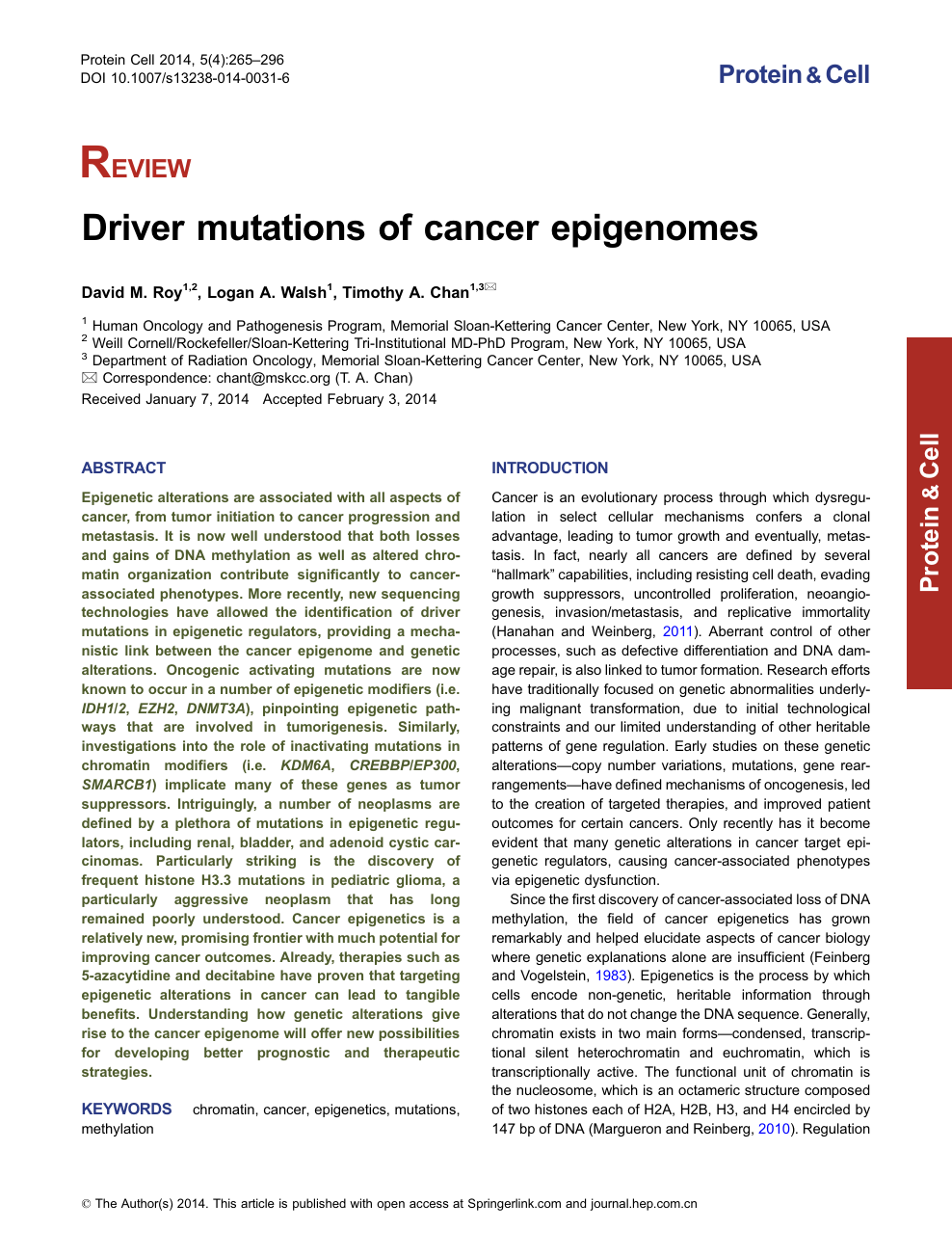 Driver mutations of cancer epigenomes – topic of research paper in