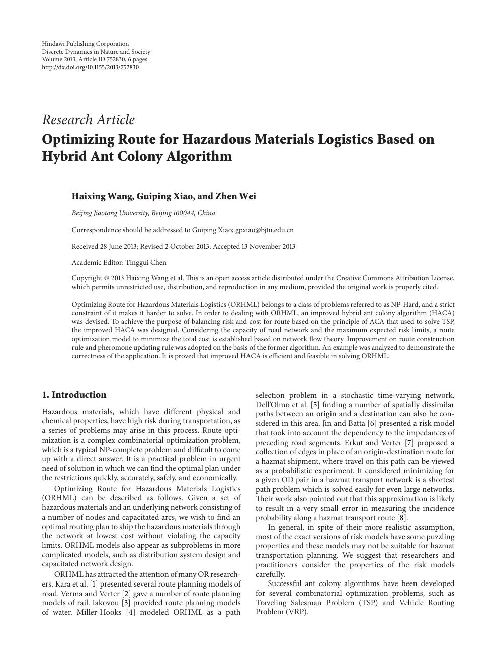 journal of hazardous materials endnote style