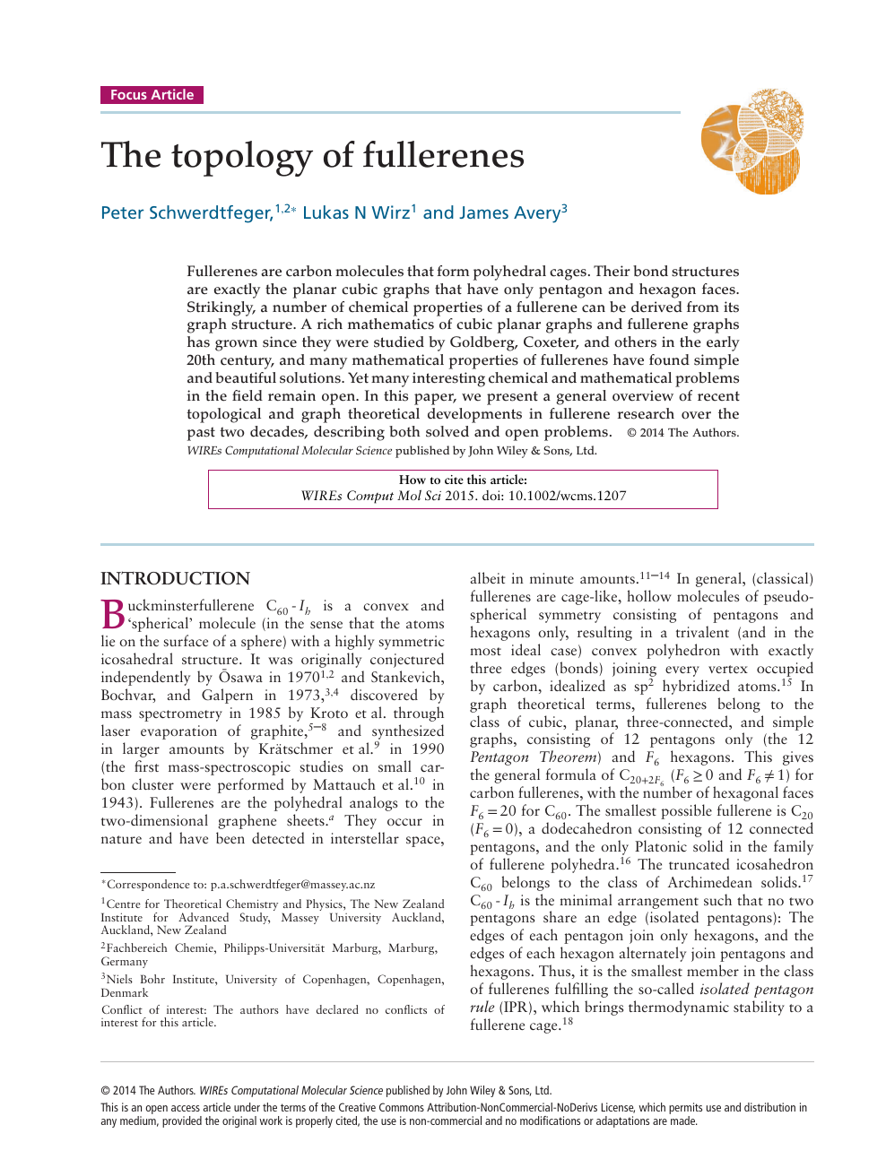 The topology of fullerenes – topic of research paper in Nano ... on