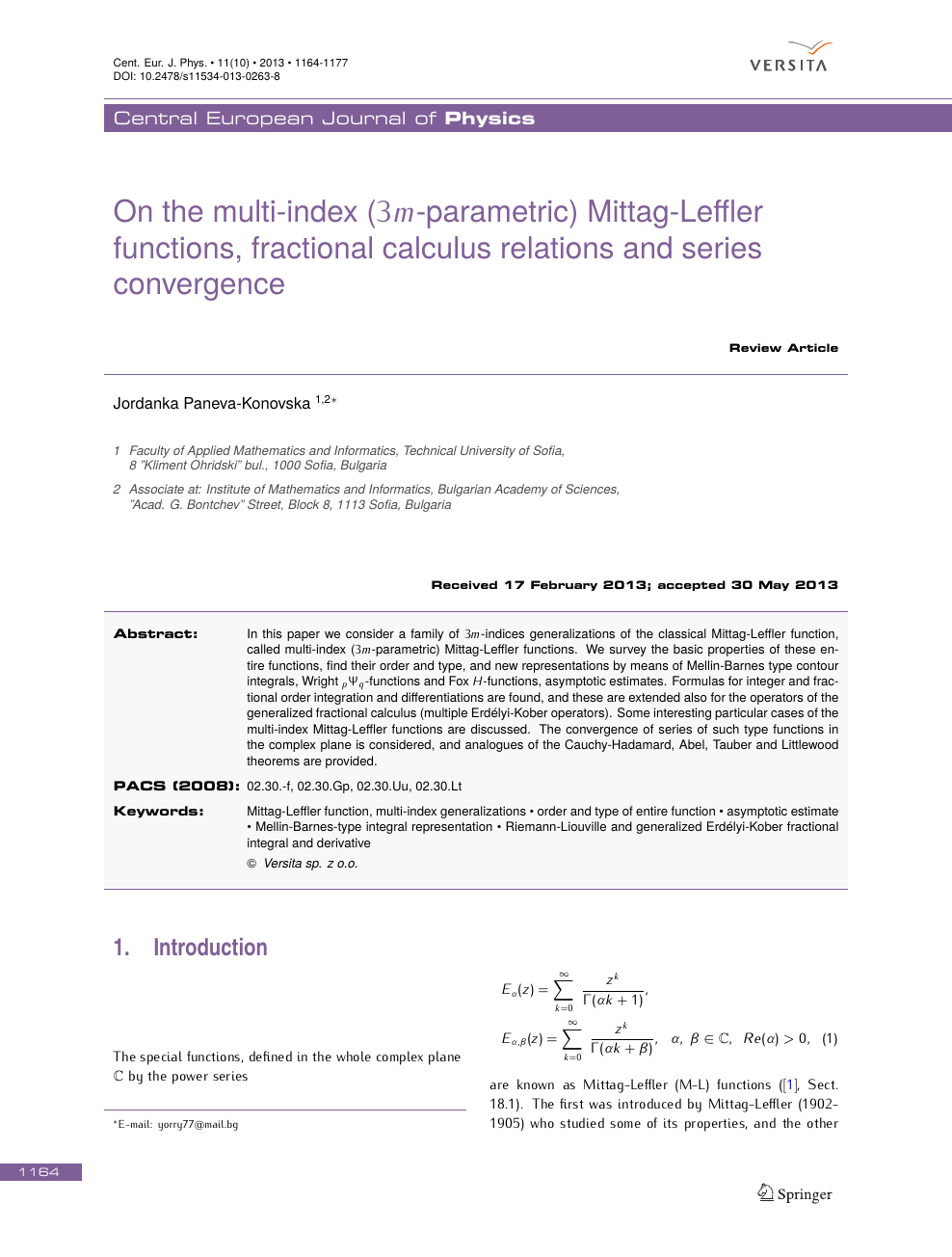 On the multi-index (3m-parametric) Mittag-Leffler functions