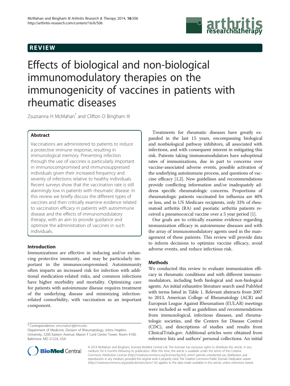 Effects of biological and non-biological immunomodulatory therapies