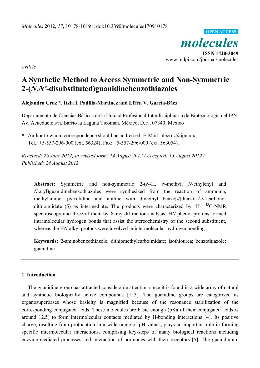 A Synthetic Method to Access Symmetric and Non-Symmetric 2