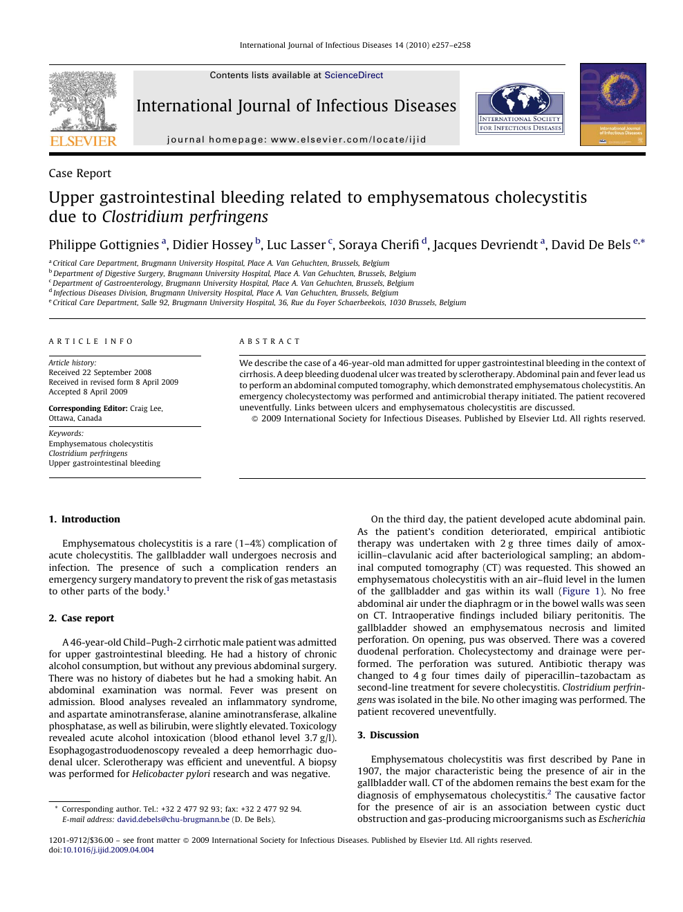 Upper Gastrointestinal Bleeding Related To Emphysematous