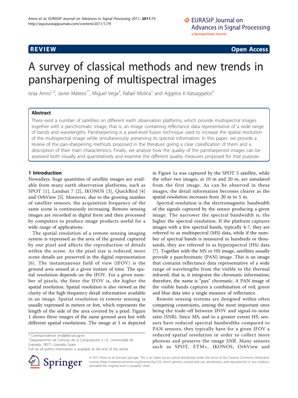 A survey of classical methods and new trends in