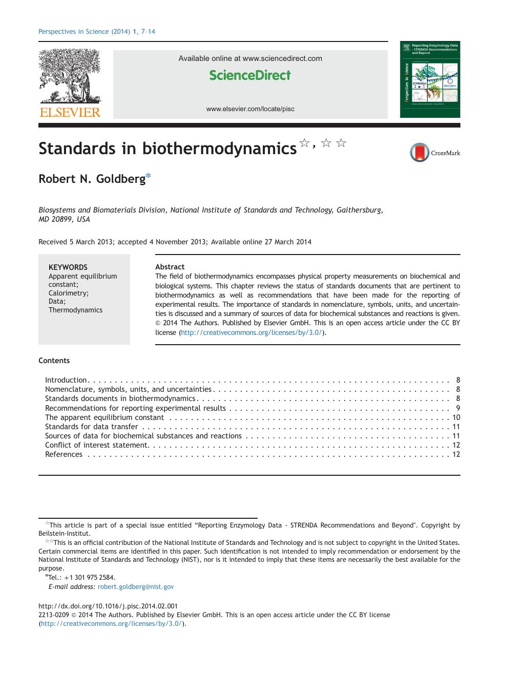 Biothermodynamics, Part 1