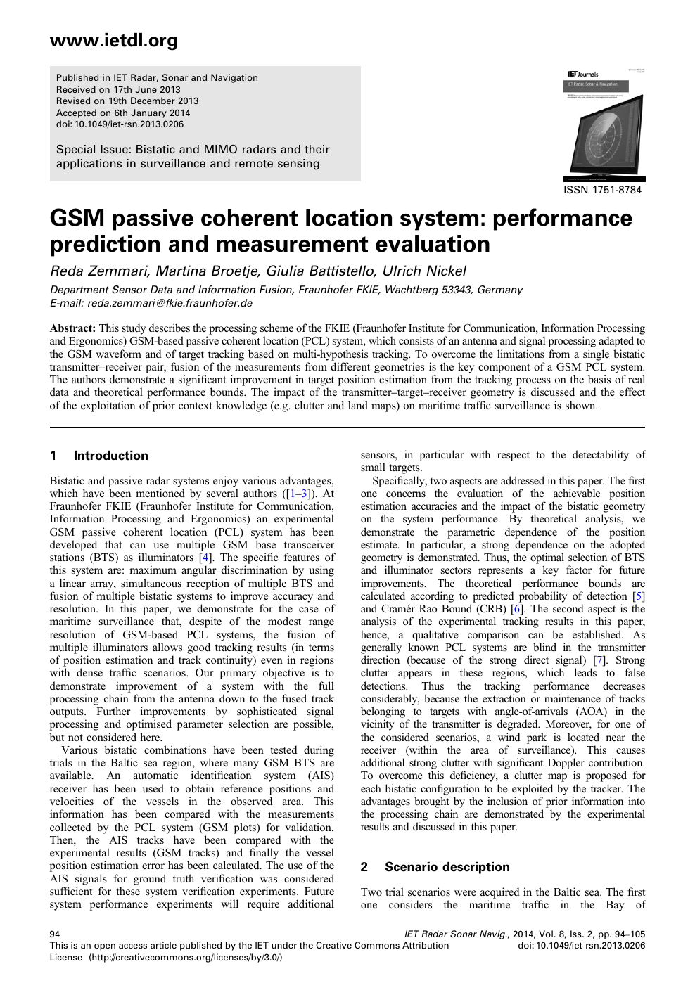GSM passive coherent location system: performance prediction and