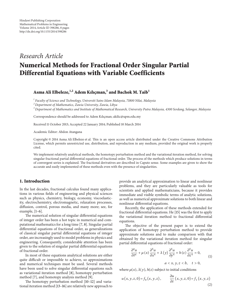 Numerical Methods for Fractional Order Singular Partial