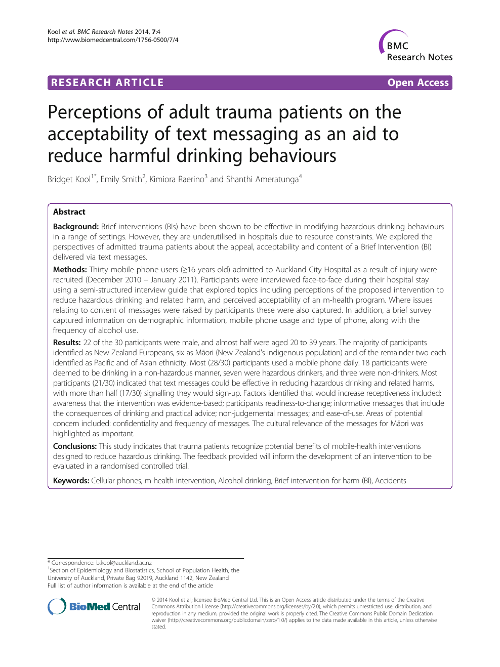 Perceptions of adult trauma patients on the acceptability of