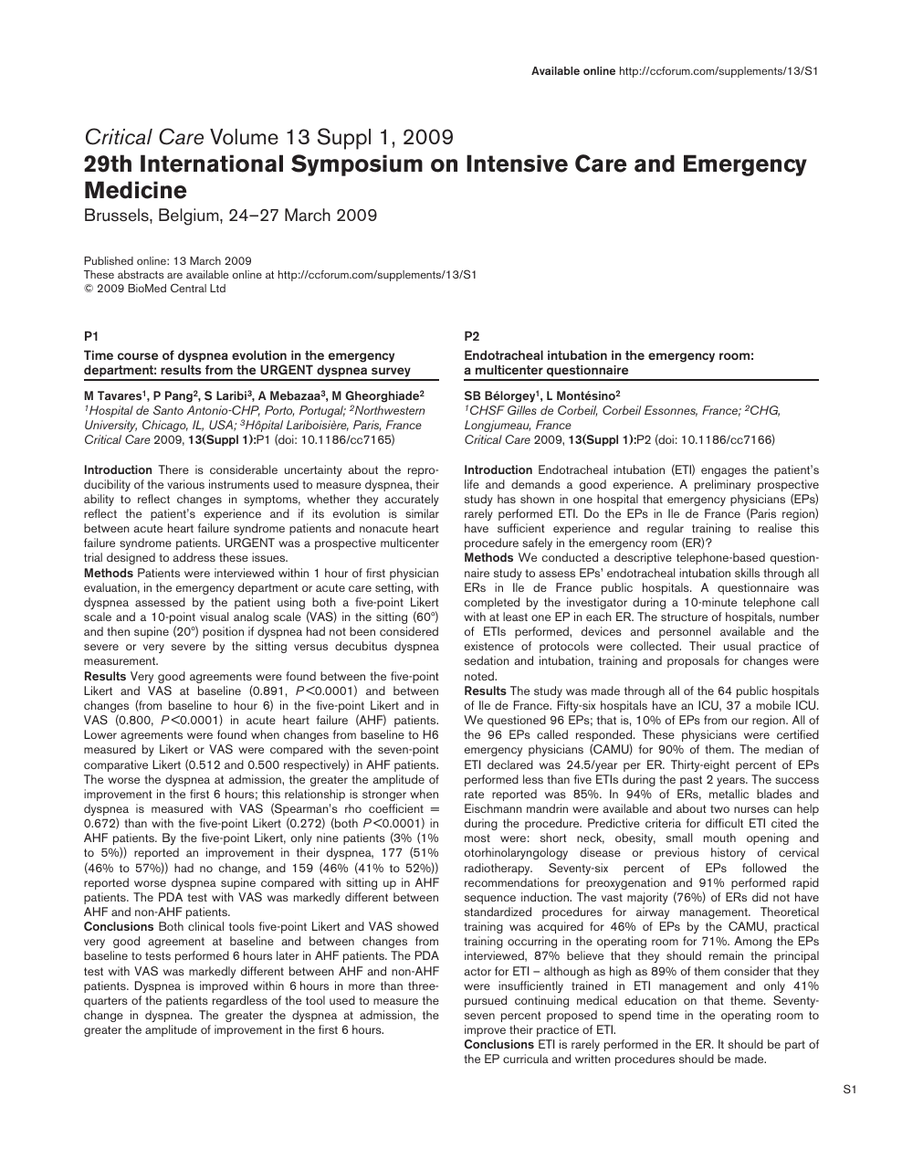 Evolution of acute lung injury/acute respiratory distress