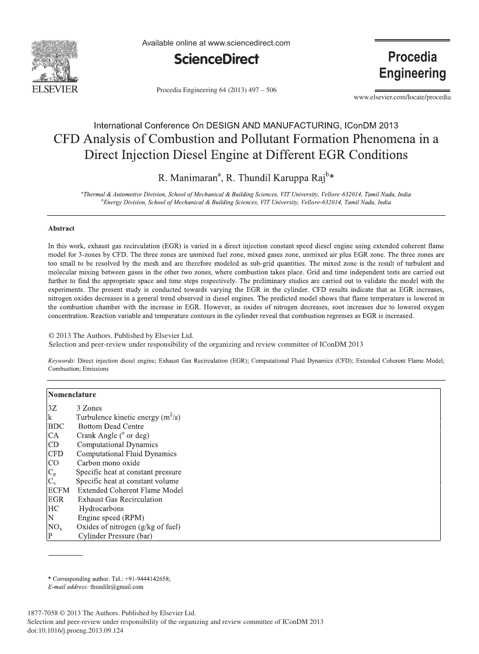 CFD Analysis of Combustion and Pollutant Formation Phenomena in a