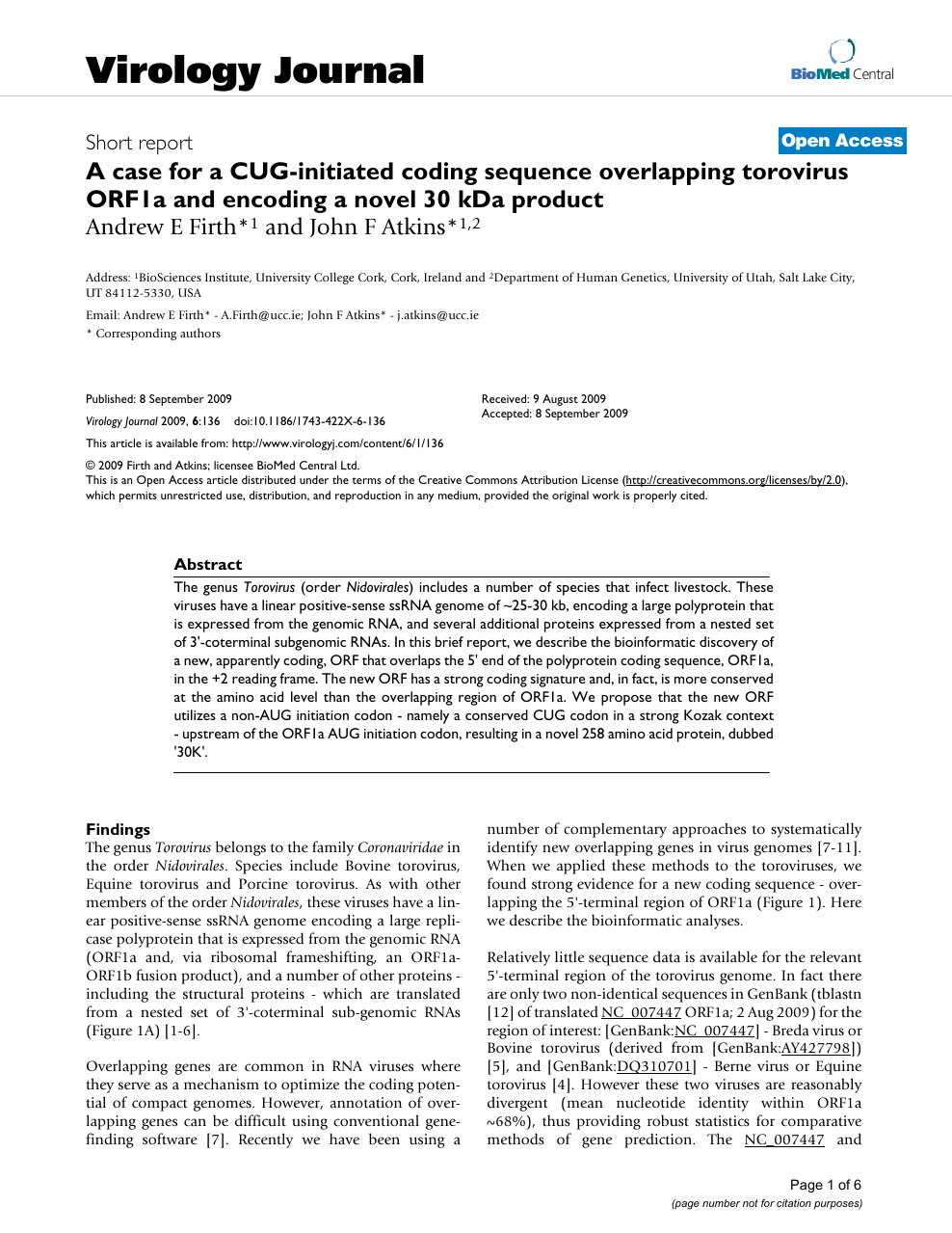 A case for a CUG-initiated coding sequence overlapping