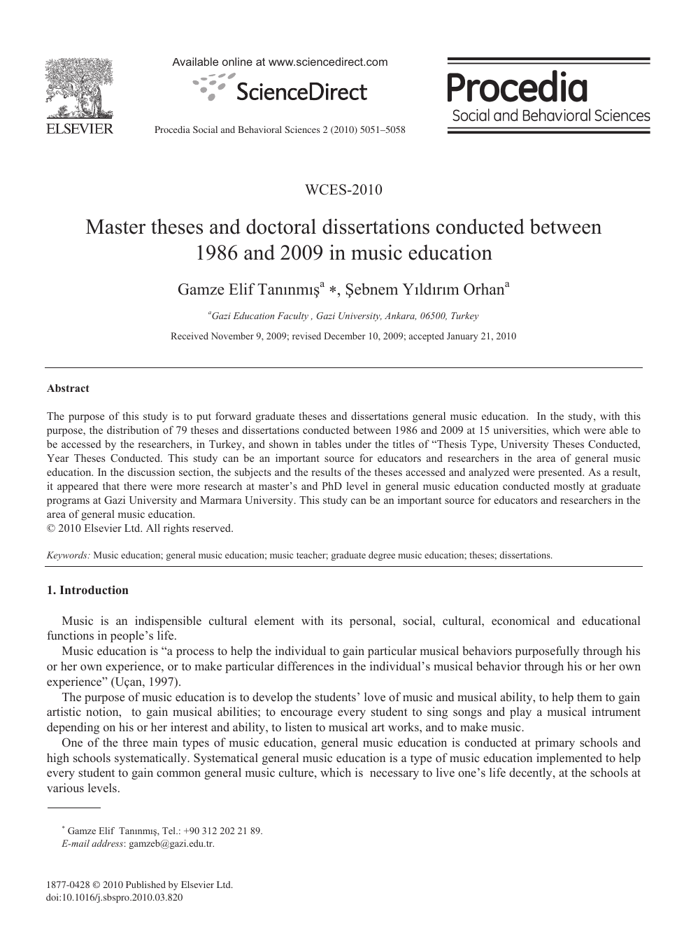 dissertations in music education