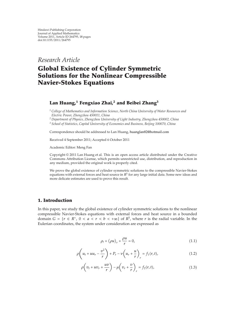 Global Existence of Cylinder Symmetric Solutions for the Nonlinear