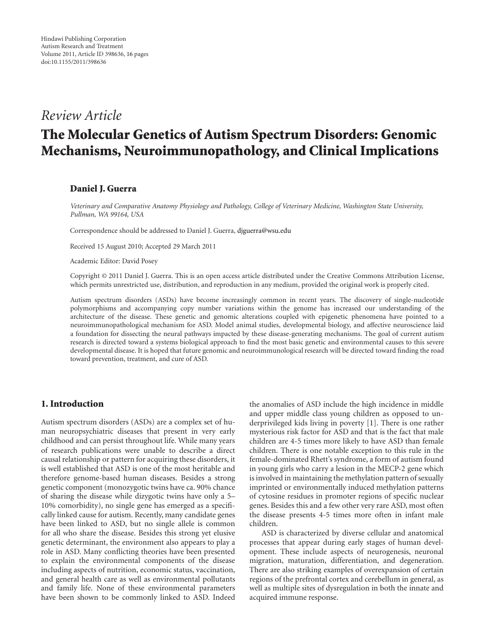 Genetics Plays Outsized Role In Autism >> The Molecular Genetics Of Autism Spectrum Disorders Genomic