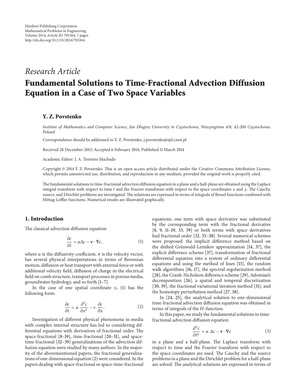 Pdf of the mathematics diffusion crank