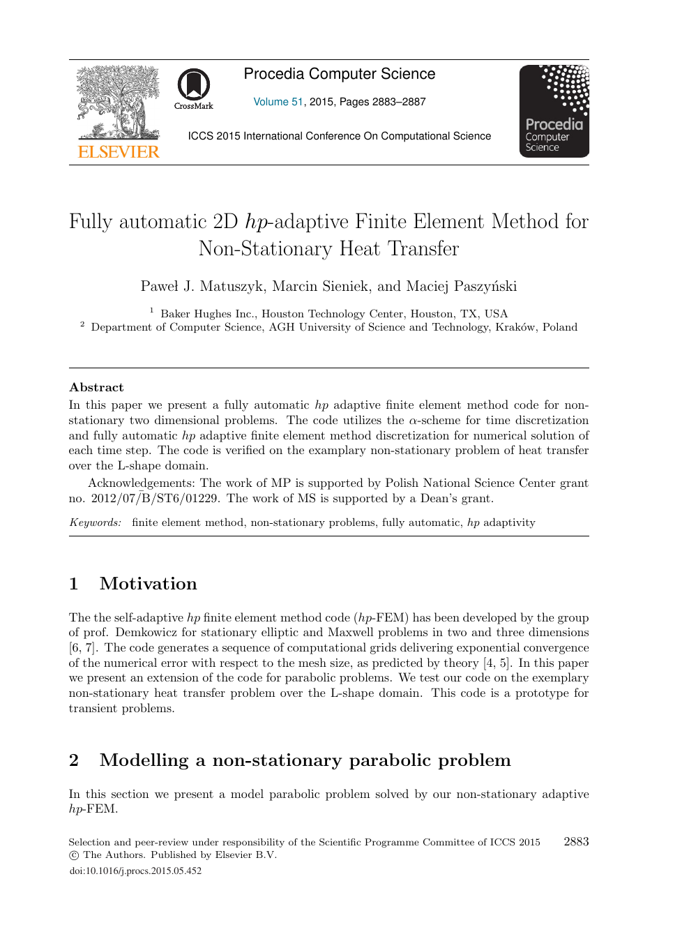 Fully Automatic 2D hp-adaptive Finite Element Method for Non