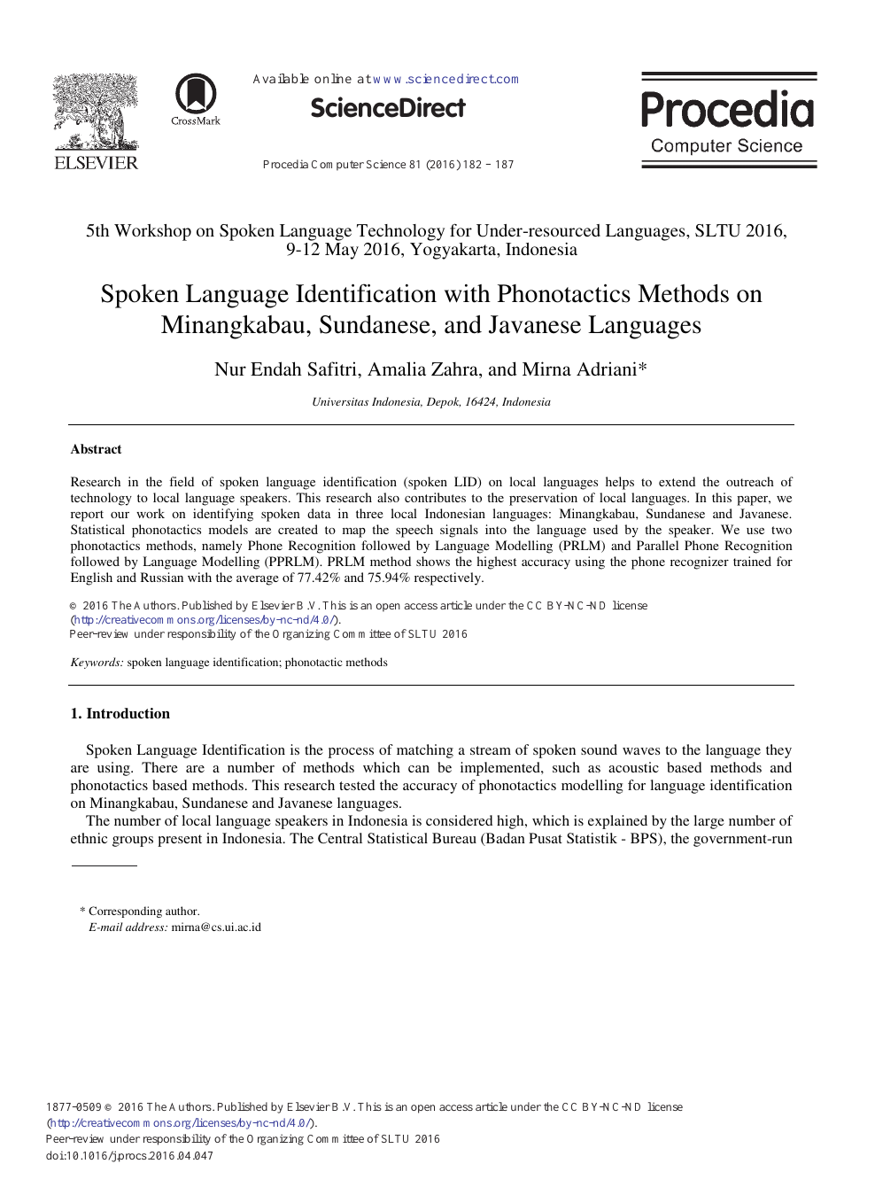 Spoken Language Identification with Phonotactics Methods on