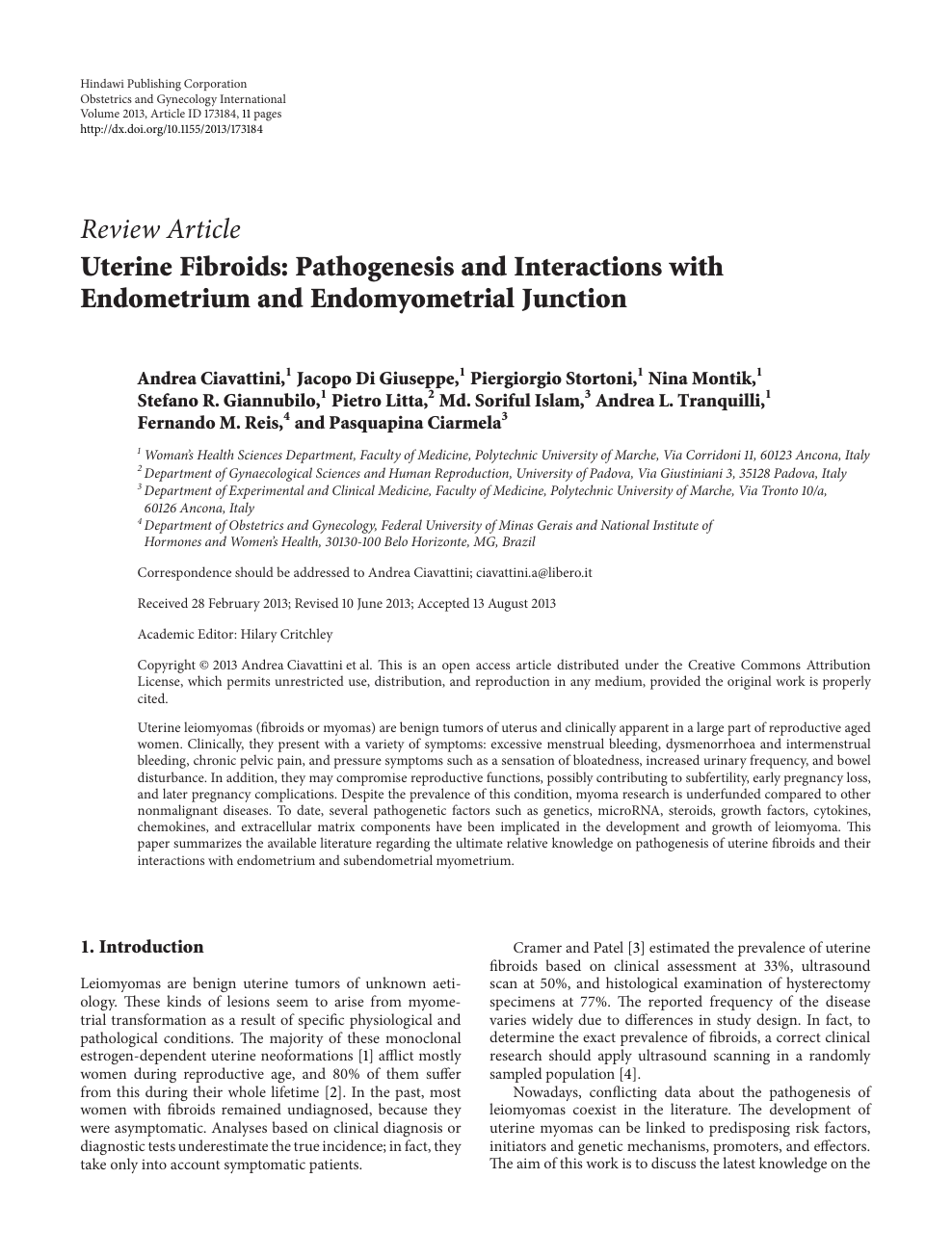 Pathogenesis Endometrium With Interactions Uterine And Fibroids