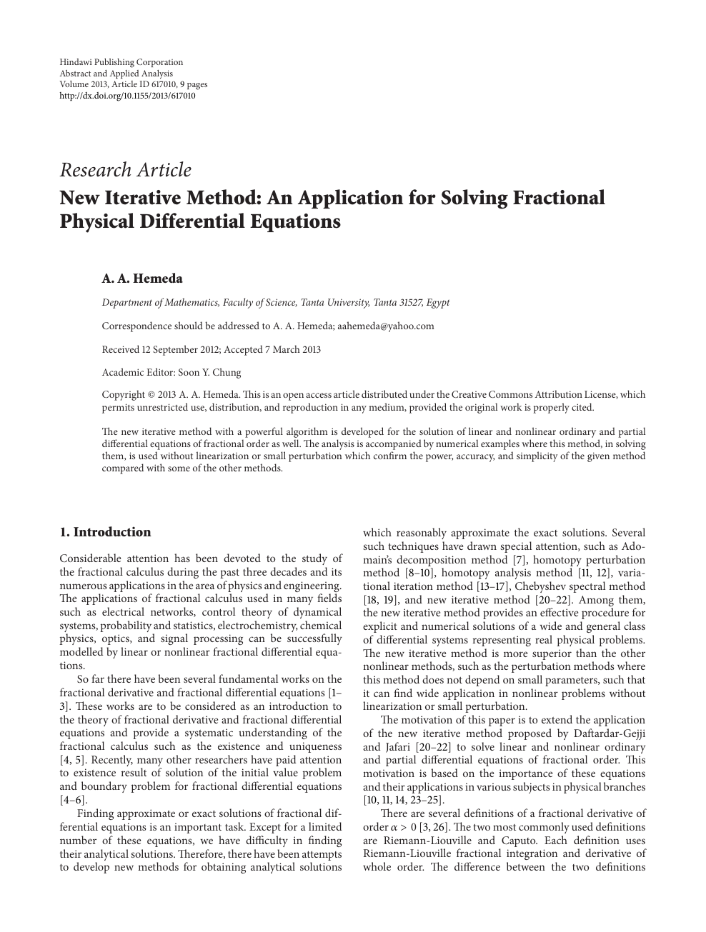 New Iterative Method: An Application for Solving Fractional
