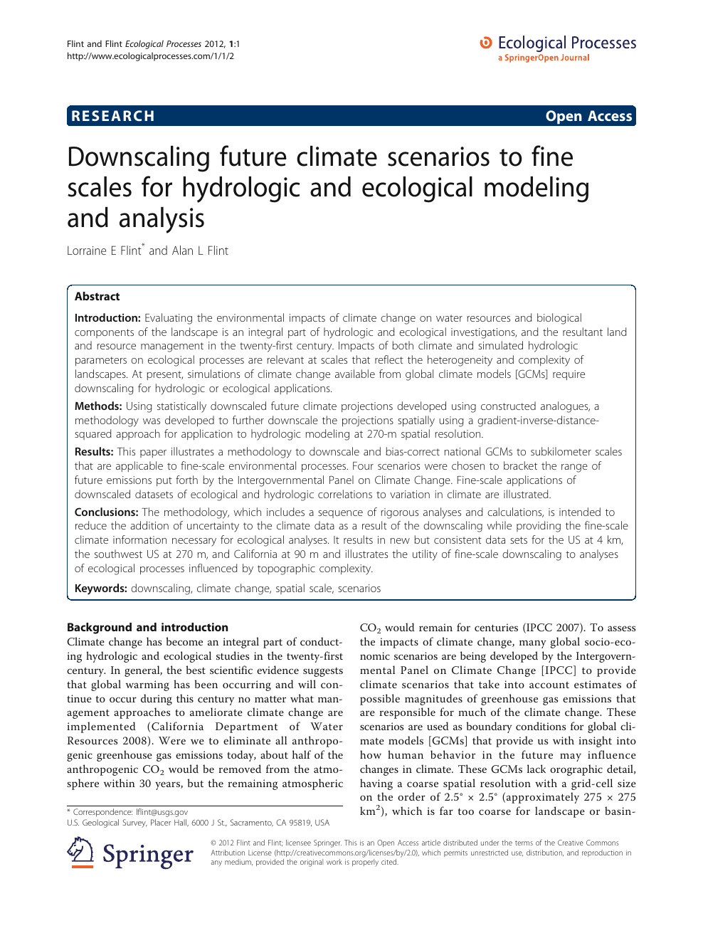 Downscaling future climate scenarios to fine scales for