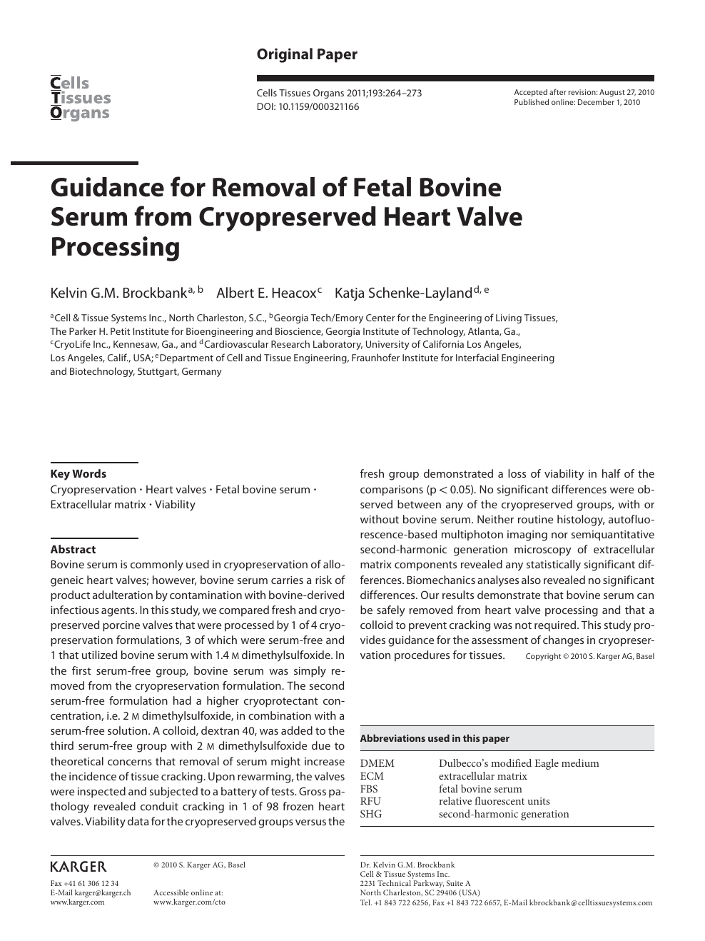 Guidance for Removal of Fetal Bovine Serum from Cryopreserved ...