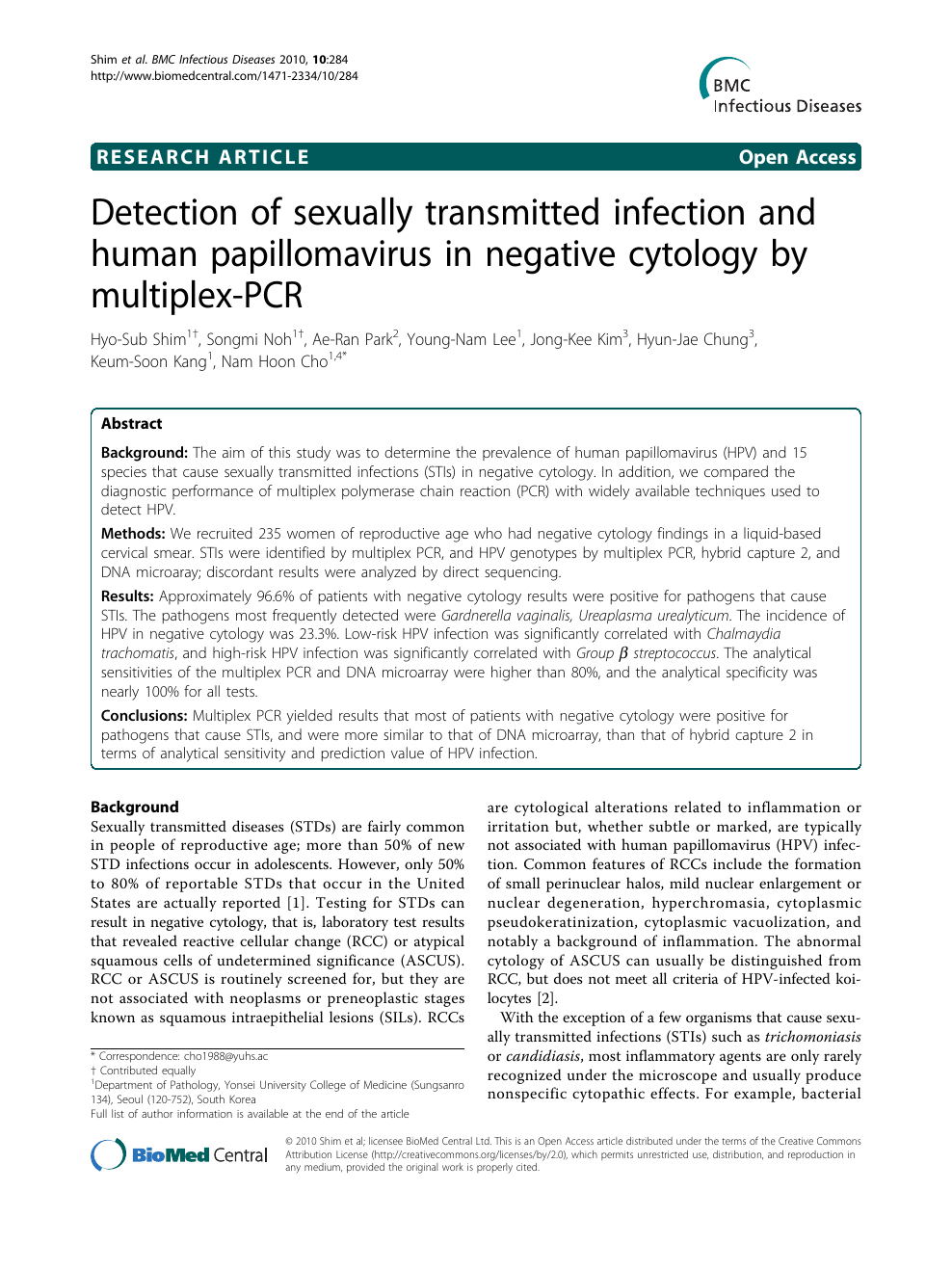 Seegen multiplex sexual transmitted infection