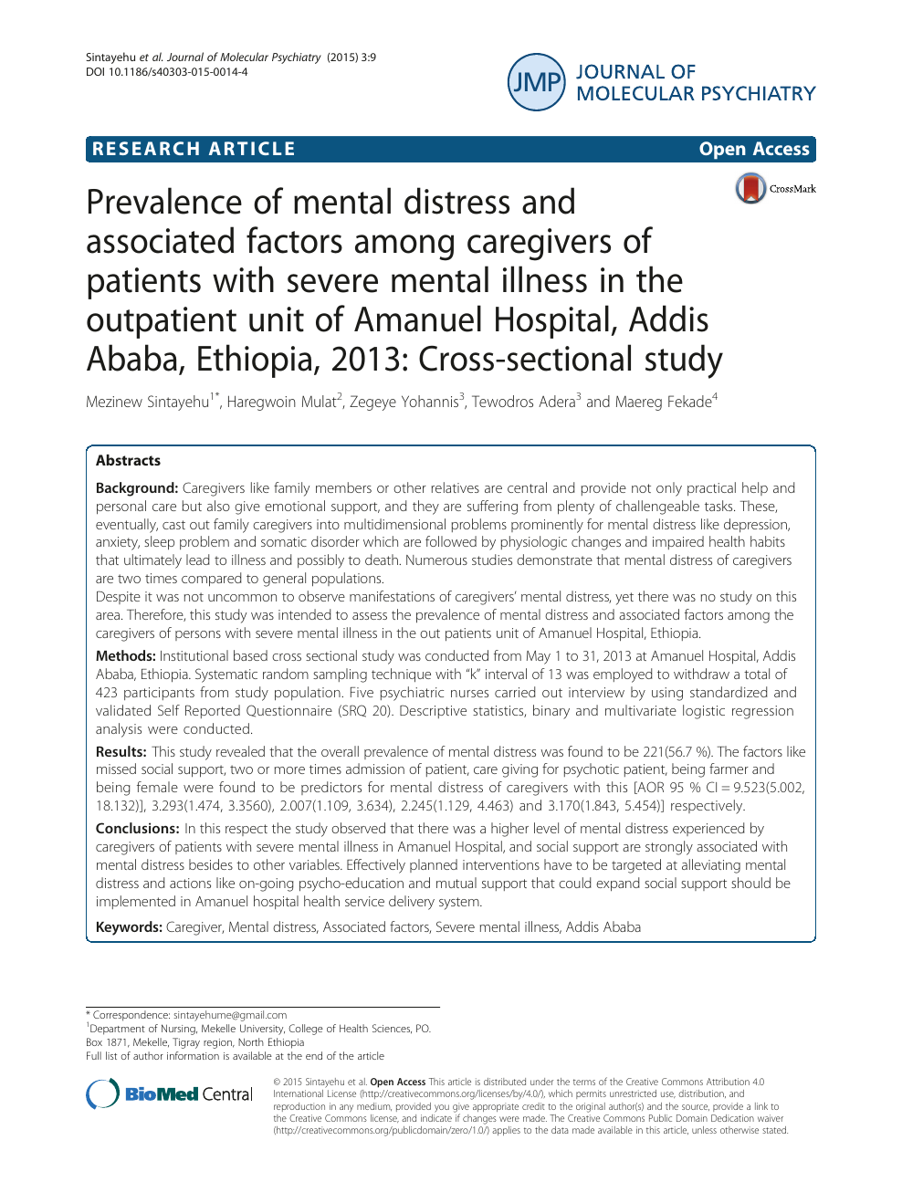mental illness research paper
