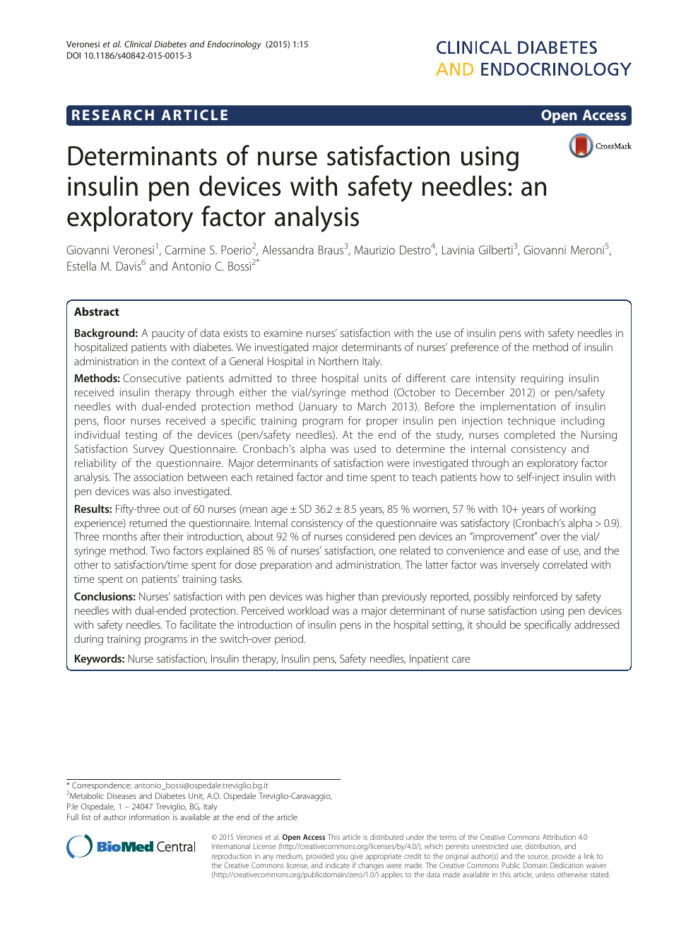 Area 51 Treviglio determinants of nurse satisfaction using insulin pen devices