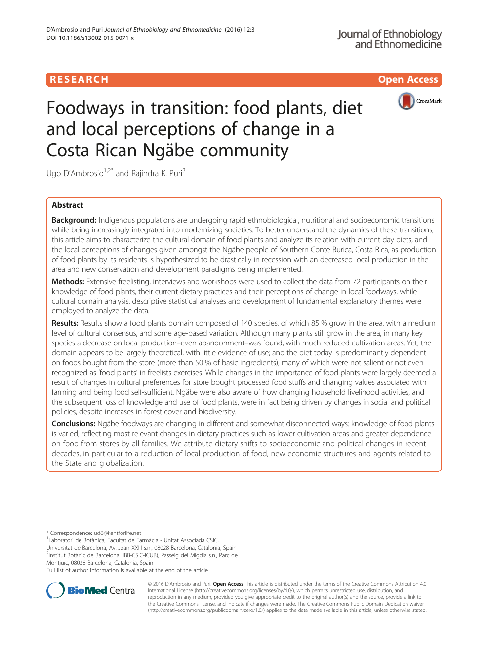 Foodways In Transition Food Plants Diet And Local