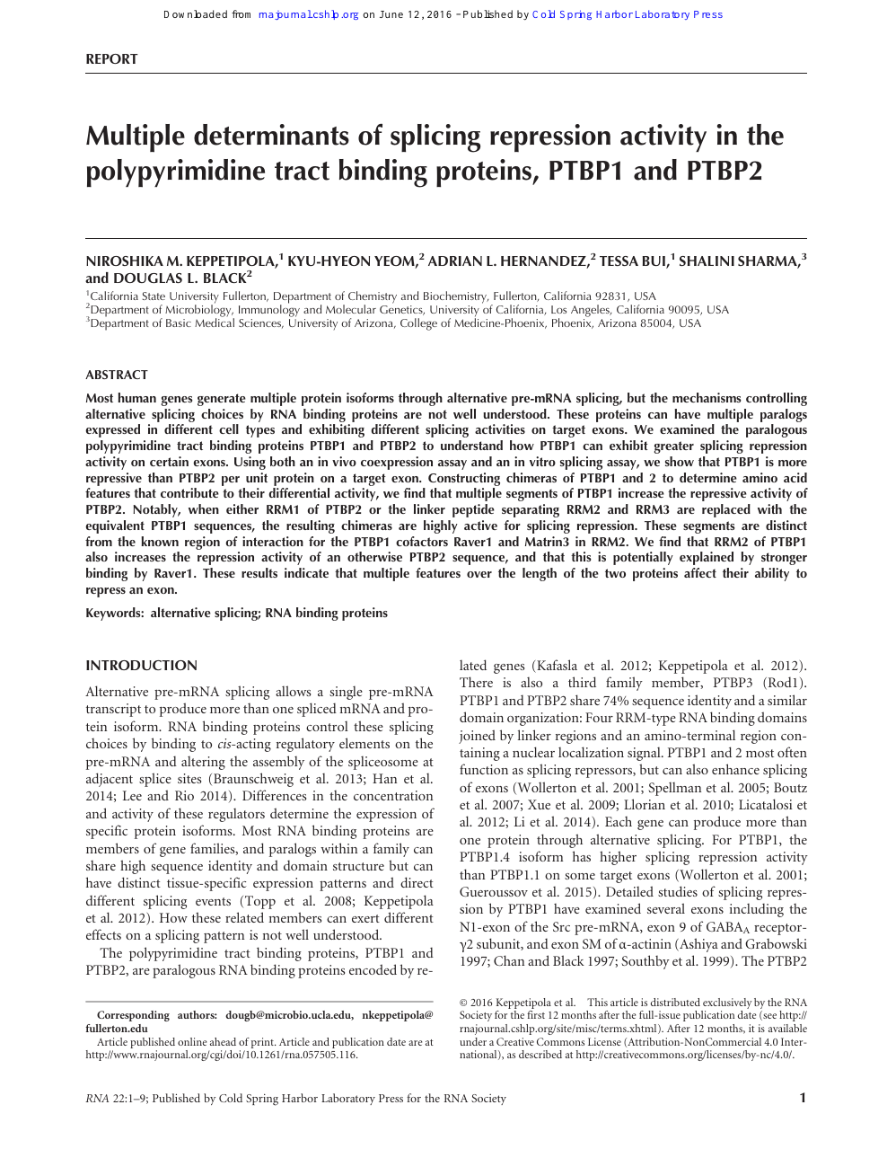 Multiple determinants of splicing repression activity in the