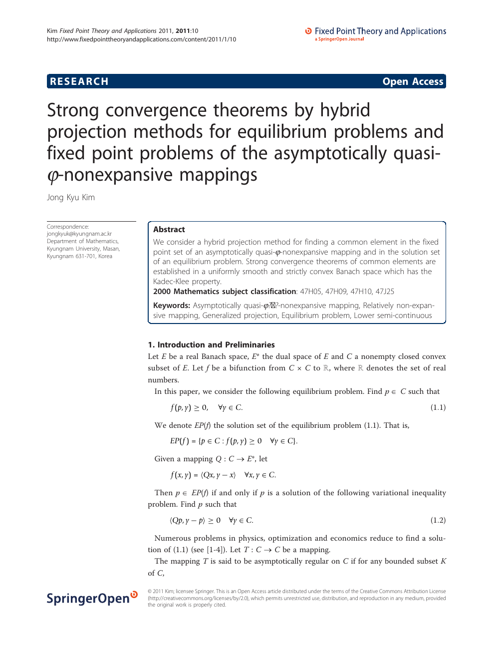 Strong convergence theorems by hybrid projection methods for